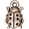 Charm Ladybug Antique Silver
